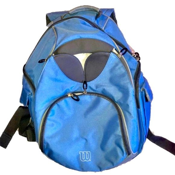 Wilson Sky Blue Tennis Athletic Backpack